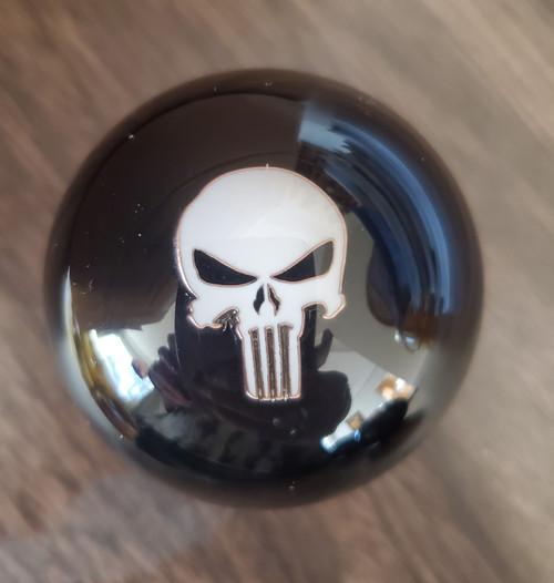 White Punisher Skull USMC Shift Knob