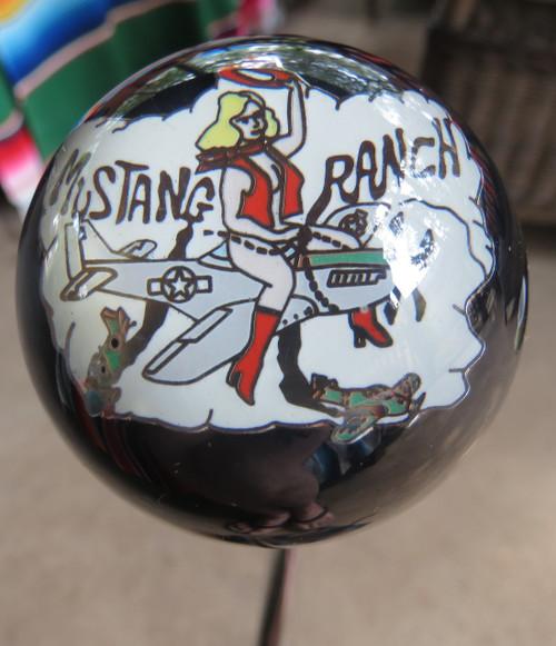 """Beautiful """"Mustang Ranch"""" Nose Art Pin-Up Shift Knob"""