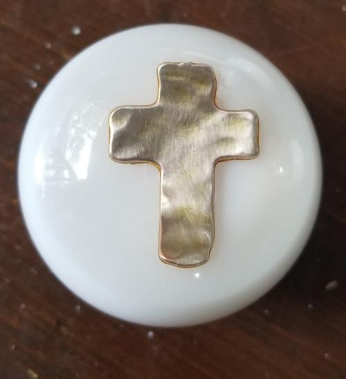 Christian Hammered Metal Cross Shift Knob