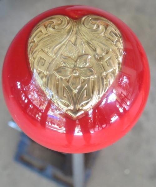 Gold Filigree Heart Shift Knob