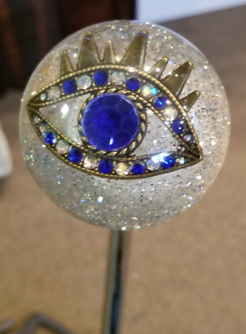 Gorgeous Spiritual Blue Crystal Third Eye Shift Knob