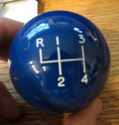 BLUE is shown BUT this knob is BLACK with White engraving