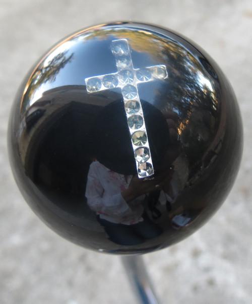 Rhinestone Cross Shift Knob