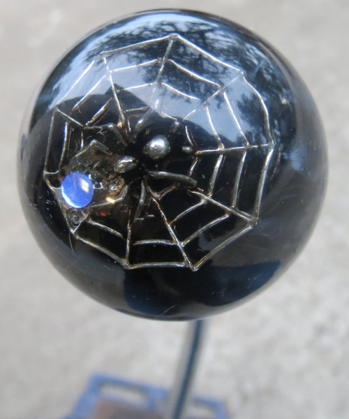 Blingy Prey Pewter Spider Web Shift Knob