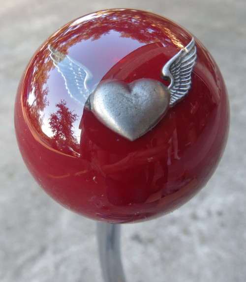 Burgundy Flying Heart Shift Knob