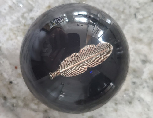 Vintage Silver Indian Feather Shift Knob