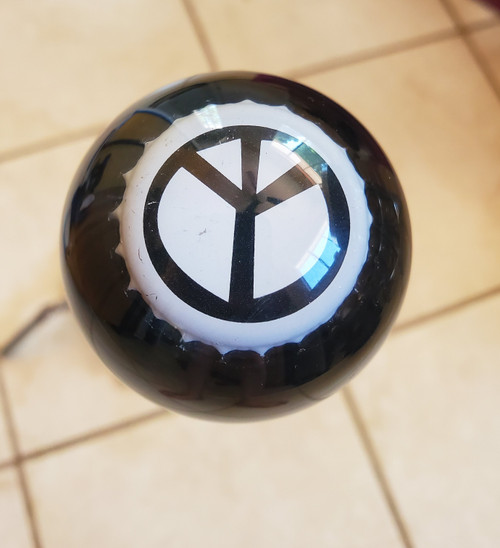 Black/White Peace Sign Beer Shift Knob