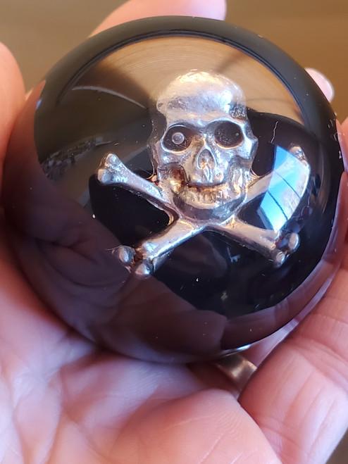 Pewter Skull & Crossbones Shift Knob
