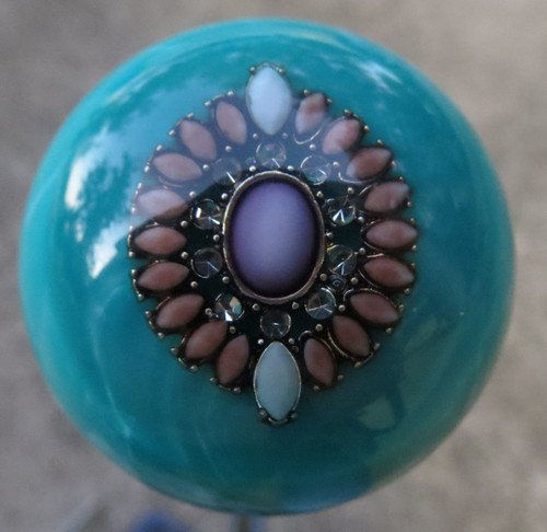 Gorgeous Turquoise Pearl Brooch Shift Knob