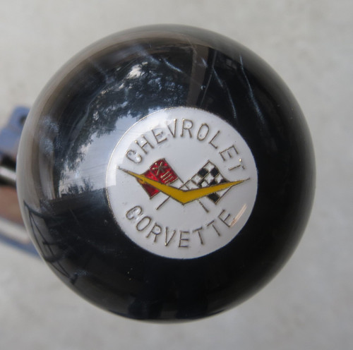 Corvette Shift Knob Crossed Flags #3 Shift Knob