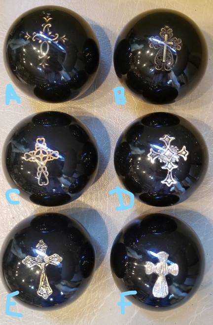 Religious Small Decorative Metal Cross Shift Knob - Various Styles