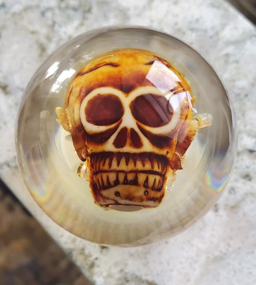 Spooky Real Life Like Bone Skull Shift Knob