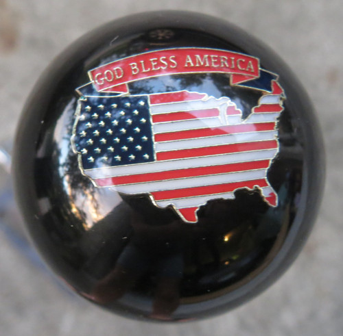 God Bless America Patriotic Shift Knob #2