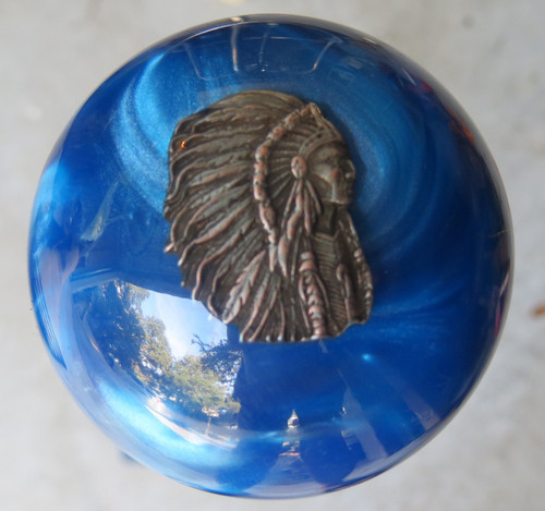 Pewter Indian Chief Warbonnet Shift Knob