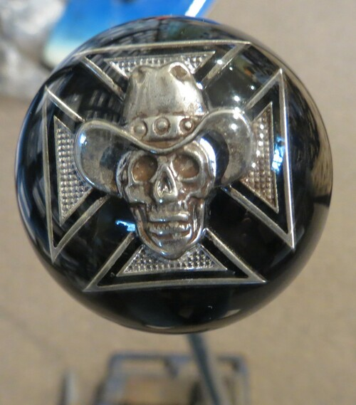 Cowboy Skull Iron Cross Shift Knob