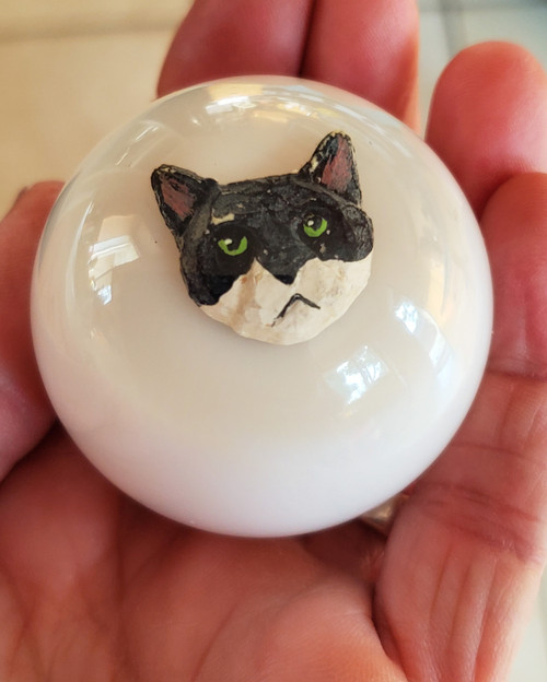 Cool Black & White Cat Kitty Shift Knob