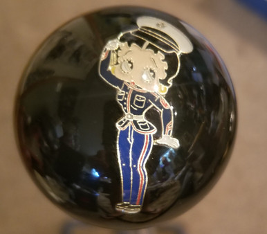 "Black pearl knob Betty Boop  Custom 2/"" Shift Knob Large face,"