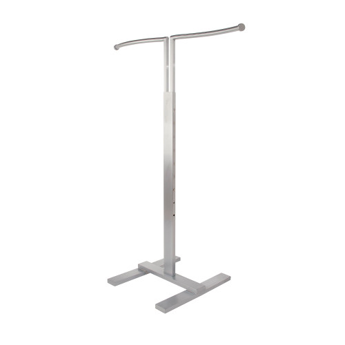 2 Way Curved Garment Rack with S Shaped Hangrail