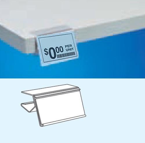 Clear Label Holder for Wood & Laminate Shelves
