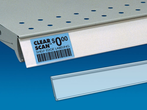 Label Strip with Rigid Back for Price Channel