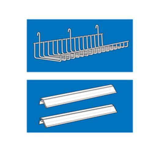 Power Panel End Cap Wire Shelf Label Holder