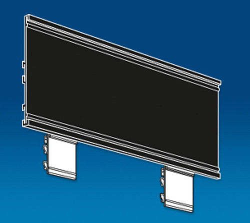 Power Panel End Cap Header Sign Kit, Black