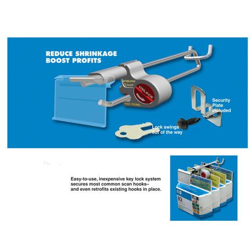 Key Lock System for Scanner Hooks (Pack Of 5)