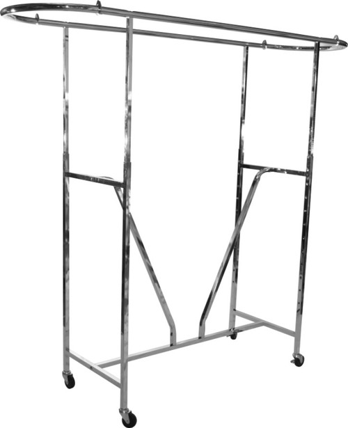Curved Add-On Bar for H Rack Style Garment Rack