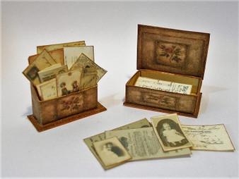 KIT - Vintage Letter Rack & Box