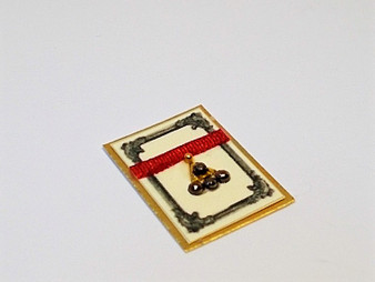 Choker on Card, gold oval with black jewels JC4