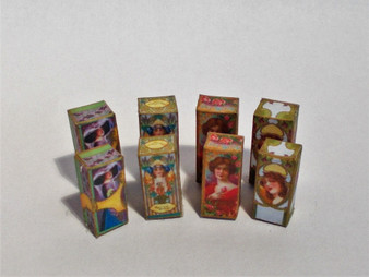 Download -4 designs/2 sizes American Perfumer Design vintage perfume boxes c1910 No2