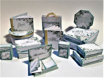 Kit - Foliage Modern Wedding boxes, stationery,albums & more