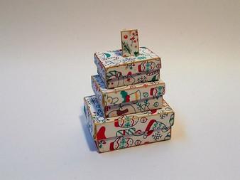 Download - Christmas Seasonal Boxes - White