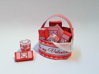 Kit - Valentines Pamper basket - red