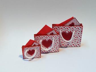 Kit - Valentine Gift Bags Red & White