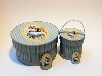 Download - Romantic Hat Boxes Blue