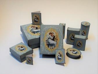Download - Romantic perfume/toiletry/presentation Boxes Blue