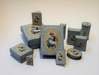 Kit - Romantic perfume/toiletry/presentation Boxes Blue
