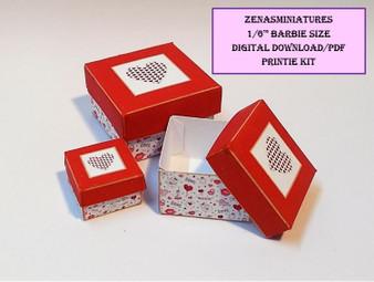 Download -1:6 Valentine heart box set