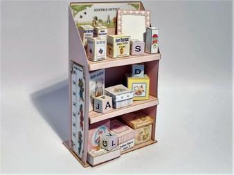 Child's Bookcase - Pinks