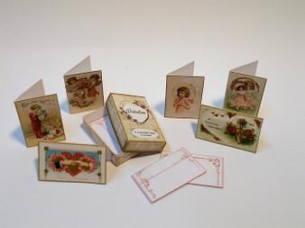 Box of Valentine Cards Vintage style