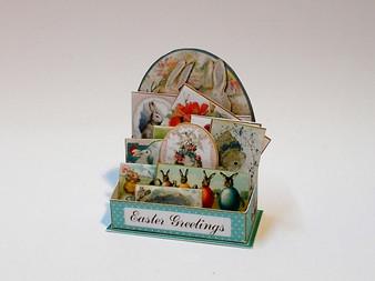 Easter Card Display-Vintage style
