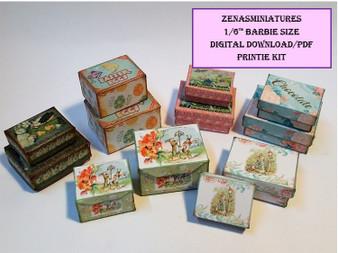 Download - 1:6 Vintage Easter Boxes