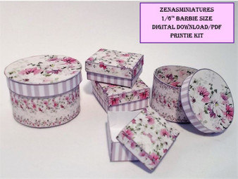 Download - 1:6 Lilac Shabby Chic Boxes