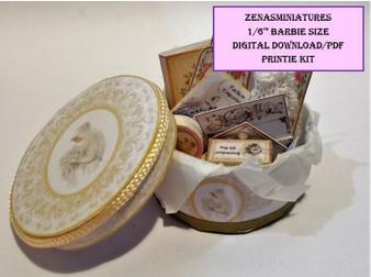 Download - 1:6 Wedding Hat Box & Haberdashery