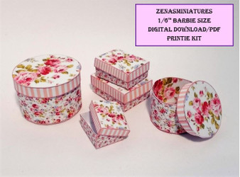 Download - 1:6 Pink Shabby Chic Boxes