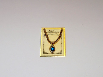 Blue Necklace on Card (JN3)