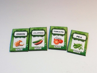 4 Vegetable seed packets no2