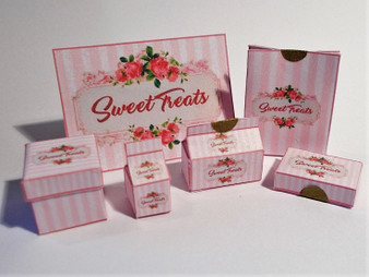 Dollhouse bakery/confectionery/cake/sweet shop boxes & bags-Sweet Treats