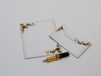Writing set with pen, letter, envelope No3